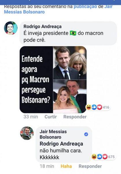 Бразильцы и Макрон пристыдили президента Бразилии, позволившего себе насмешку в адрес Брижит