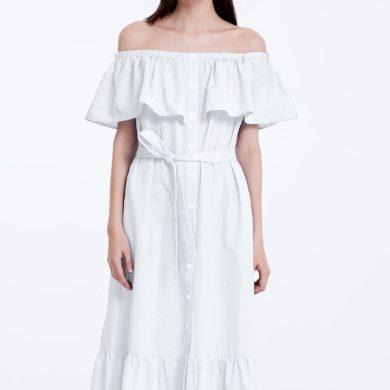 Платье с воланами: стильные тренды 2019