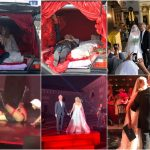 Банкетный зал свадьбы Собчак тоже выдержан в траурных тонах