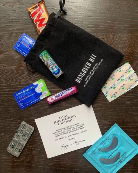 """Паулина и Федор подарили гостям презервативы: """"Будьте красивыми и пьяными"""""""