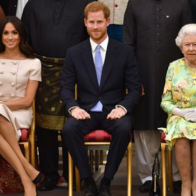 Ее величество похвалила жену внука