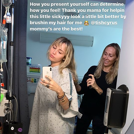 Красиво болеет: Майли Сайрус госпитализирована с тонзиллитом, а Симпсон исполняет серенаду в палате для нее