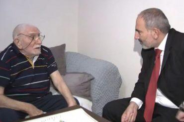 К Армену Джигарханяну домой нагрянул премьер-министр Армении (видео)
