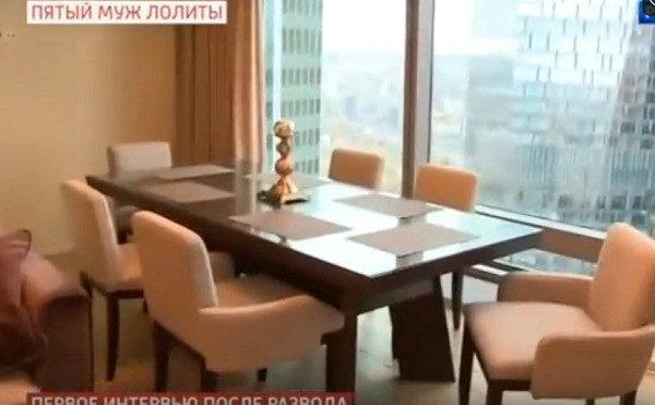 Супруг Лолиты показал прелестную квартиру, где он живет с новой возлюбленной