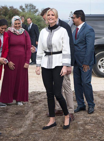 На оливковых плантанциях Марокко Иванка Трамп ступала в туфельках из переработанных бутылок