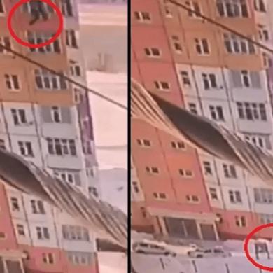 Живучие пошли девушки - Сибирячка упала с 9-го этажа, встала и пошла (видео)