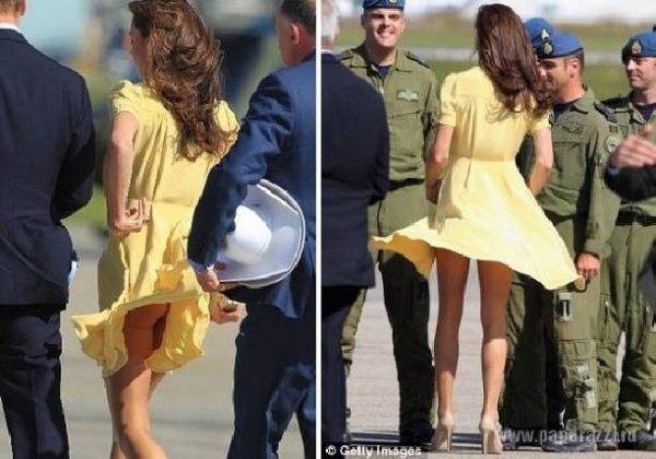 Безжалостный ветер, влюбленный в королевскую попу Кейт🌸💐🌺🌼