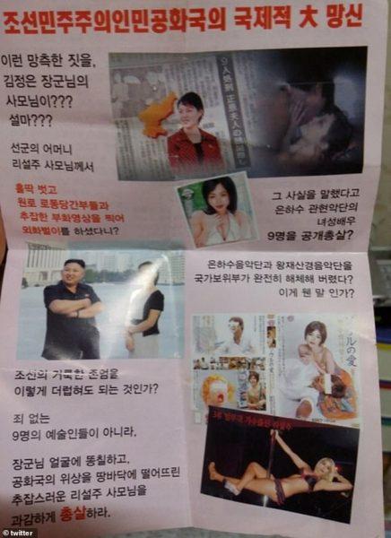 Ким Чен Ын был взбешен - В воздухе летали шарики с фотографиями его собственной обнаженной жены