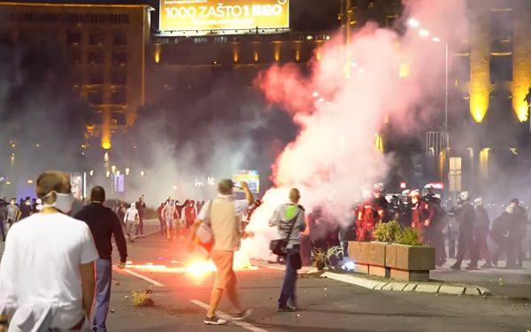 В Белграде прошли акции протеста