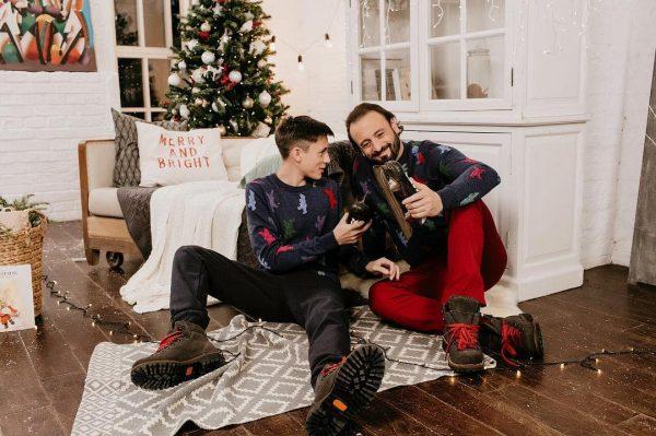 Илья Авербух с сыном Мартином встречают Рождество
