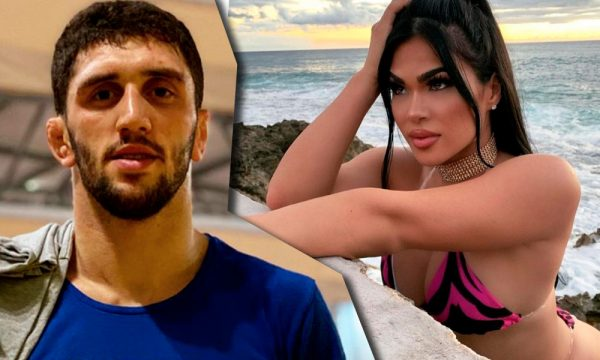 Заурбек Халиев и его невеста Мадина Плиева в купальнике на пляже