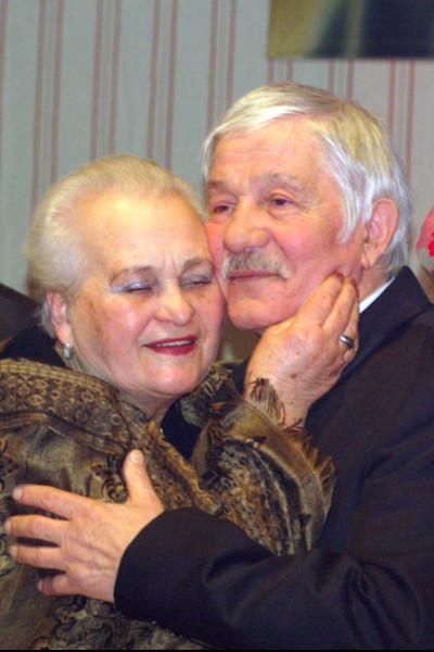 Михай Волонтир с женой
