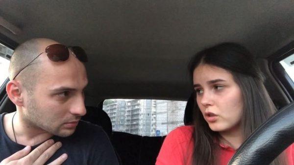 Артем Карокозян с Аделиной Мандариной, которая некогда была скромной