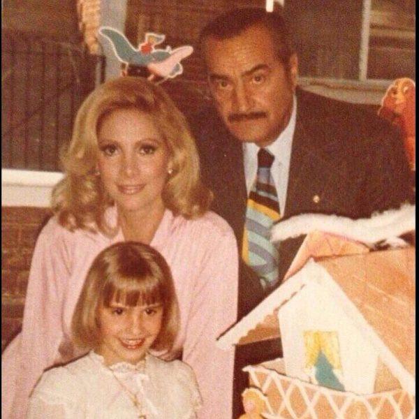 Жаклин Андере с мужем и дочкой,
