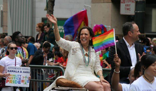 Камала Харрис с мужем на гей-параде