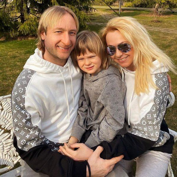 Счастливые Яна Рудковская, Евгений Плющенко, сын Саша
