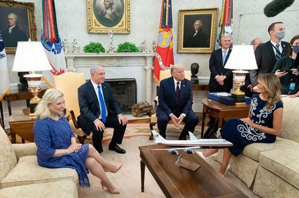 Мелани и Дональд принимают Нетаньяху в Белом доме