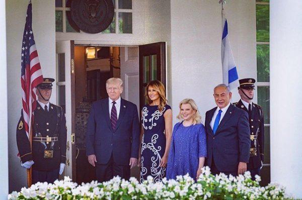 Мелания и Дональд Трамп, Беньямин и Сара Нетаньяху