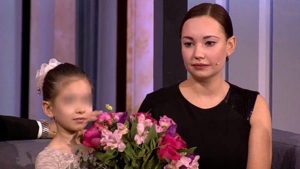 София Конкина с дочкой