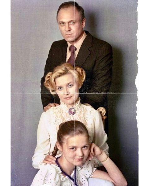 Юлия Меньшова с родителями