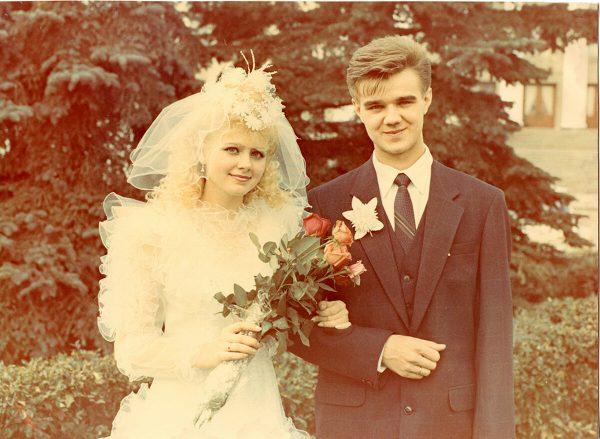 Свадебное фото певицы Натали