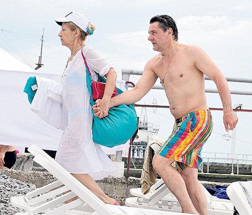 Сергей Маковецкий с супругой Еленой