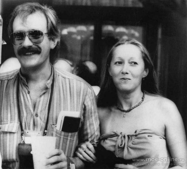 Татьяна Соловьева и Никита Михалков, черно-белое фото