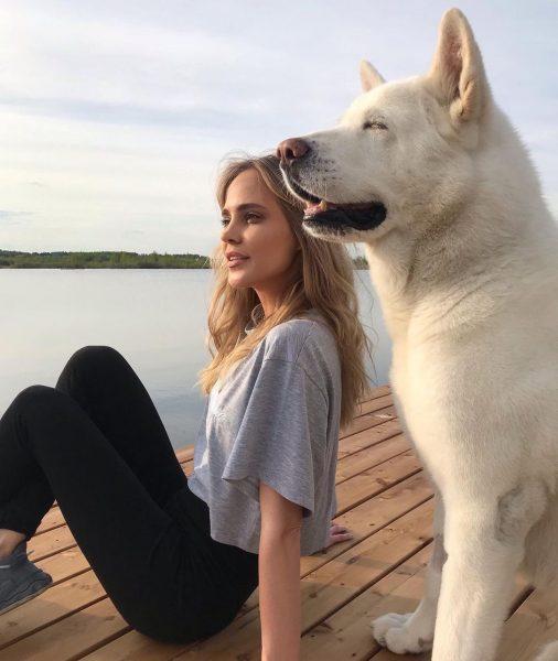 Наталья и ее пес Муфтик