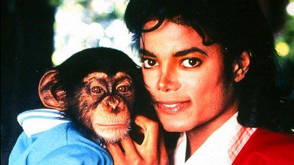 Майкл Джексон и его обезьяна Бабблз