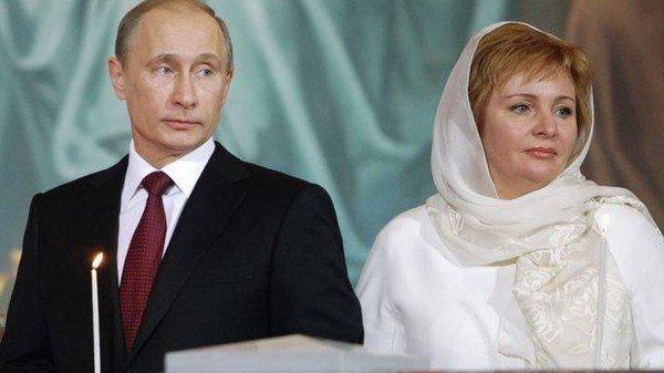 Владимир Путин с экс-супругой Людмилой