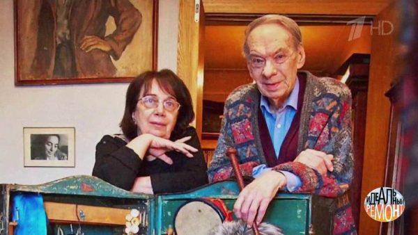 Алексей Баталов с супругой Гитаной Леонтенко,