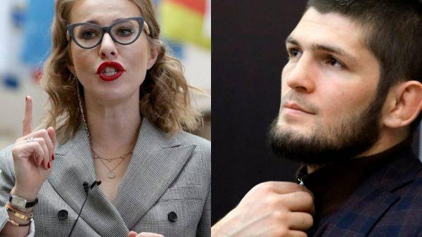 Ксения Собчак и Хабиб Нурмагомедо