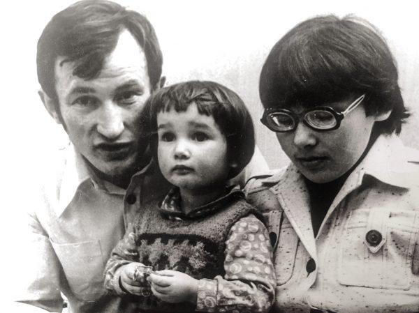 Чехова с родителями