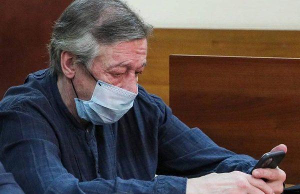 Михаил Ефремов на судебном заседании