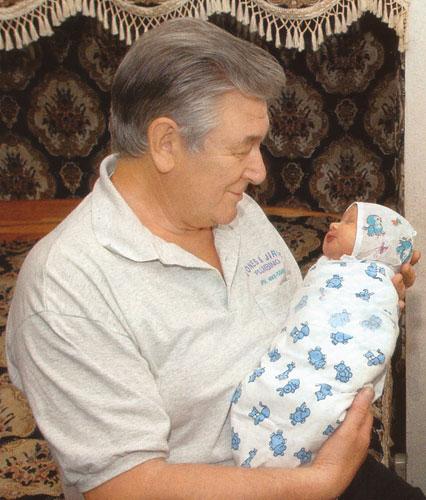 Александр Белявский с дочкой