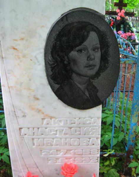 Могила Анастасии Ивановой.