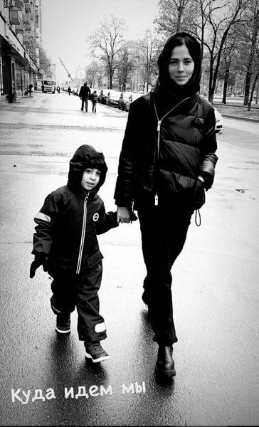 Юлия Снигирь с сыном