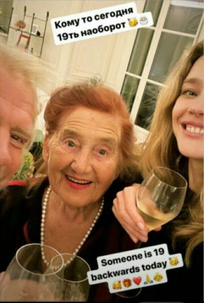 Наталья Водянова с бабушкой и дядей