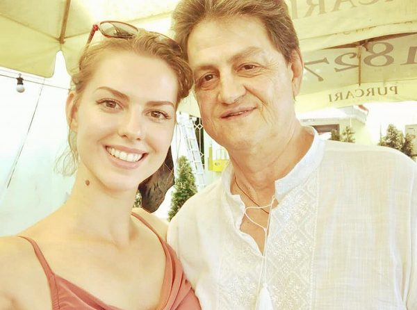 Лянка Грыу с отцом