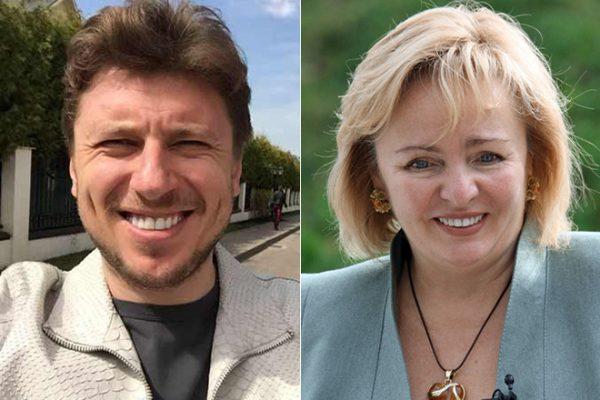 Артур Очеретный и Людмила Путина.