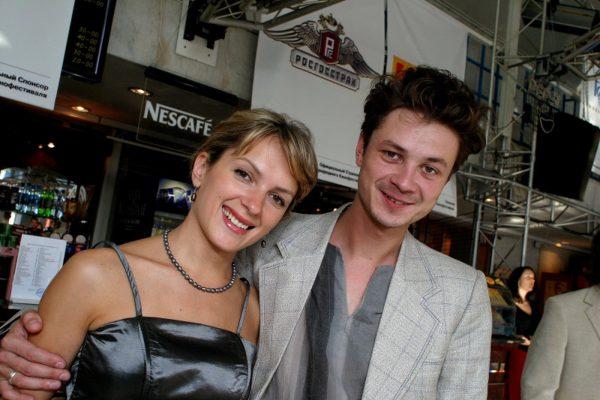 Мария Порошина с мужем