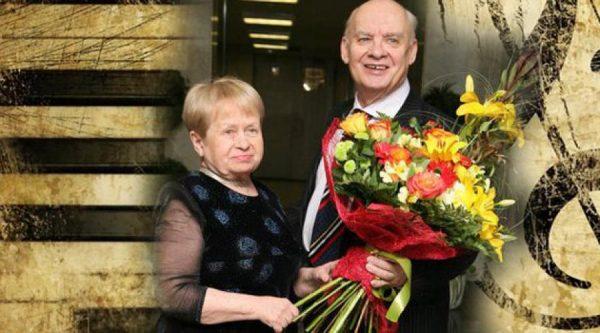 Александра Пахмутова с мужем