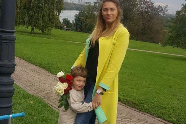 Екатерина Ифдоти с сыном