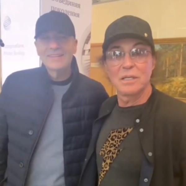 Игорь Крутой и Валерий Леонтьев в аэропорту