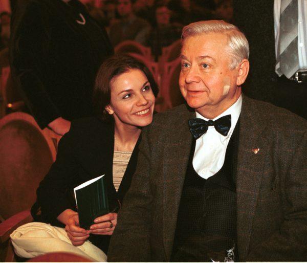Марина Зудина с Олегом Табаковым