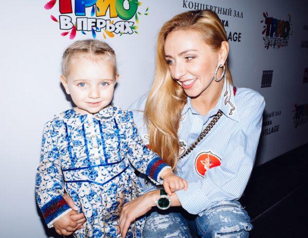Татьяна Навка с дочкой Надей от Пескова