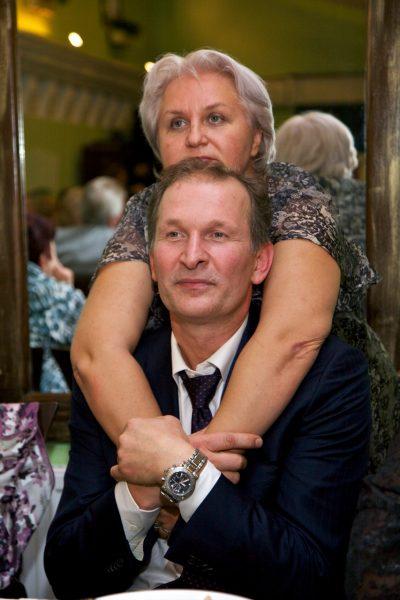 Фёдор Добронравов с женой