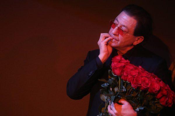 Григорий Лепс на похоронах Гафта
