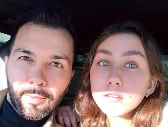 Денис Клявер с дочкой