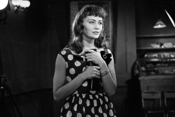 Лариса Лужина в молодости на съемках фильма